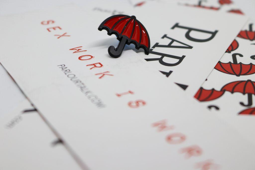 Red Umbrella Pin Badge